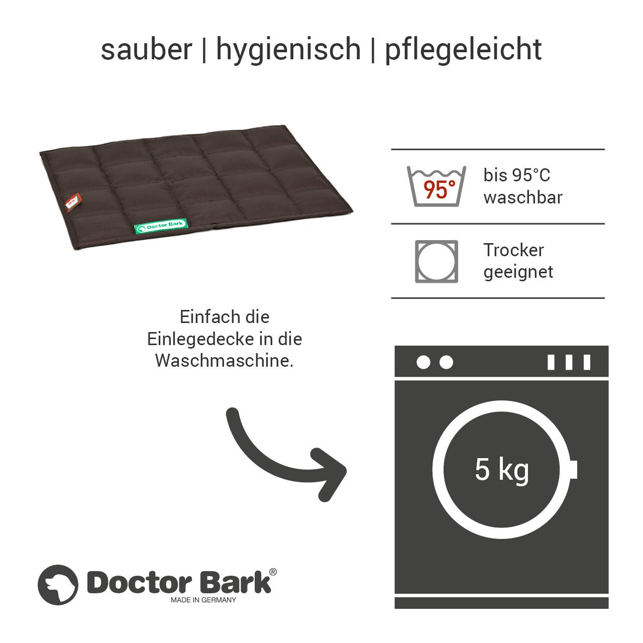 gepolsterte Einlegedecke für Doctor Bark Hundebett Gr. S - braun