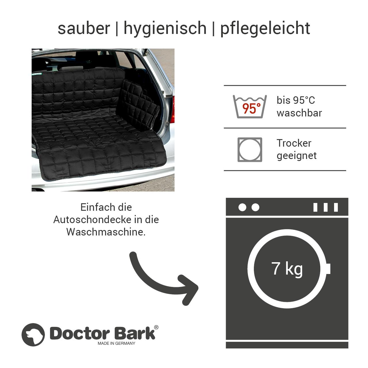 Doctor Bark - Kofferraum Hunde Autoschondecke All-Side Gr. M - schwarz