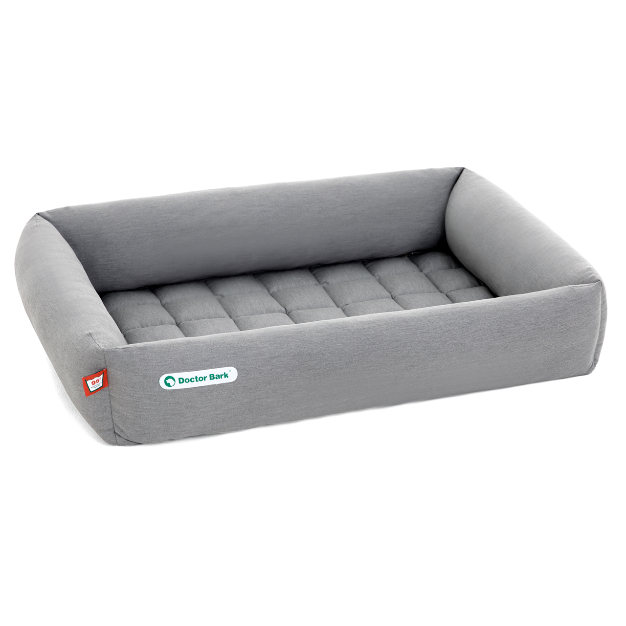 SET Bett + Einlegedecke hellgrau L
