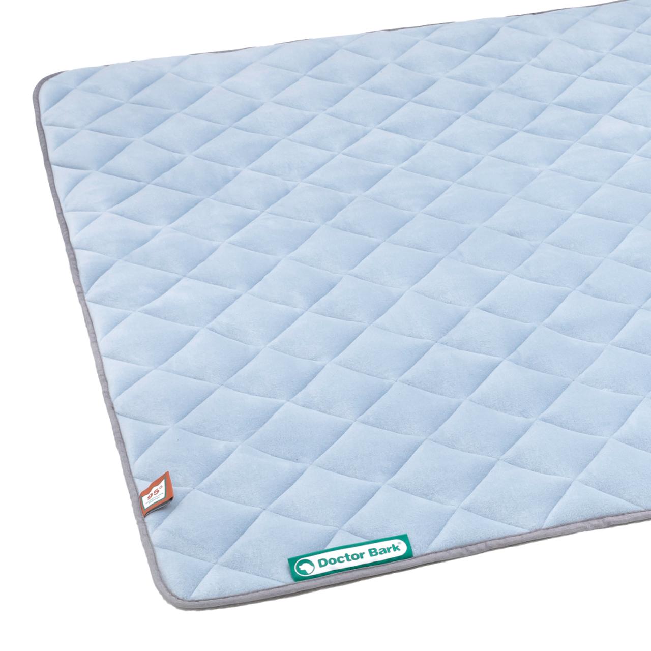 Fleece Steppdecke himmelblau - hellgrau XL