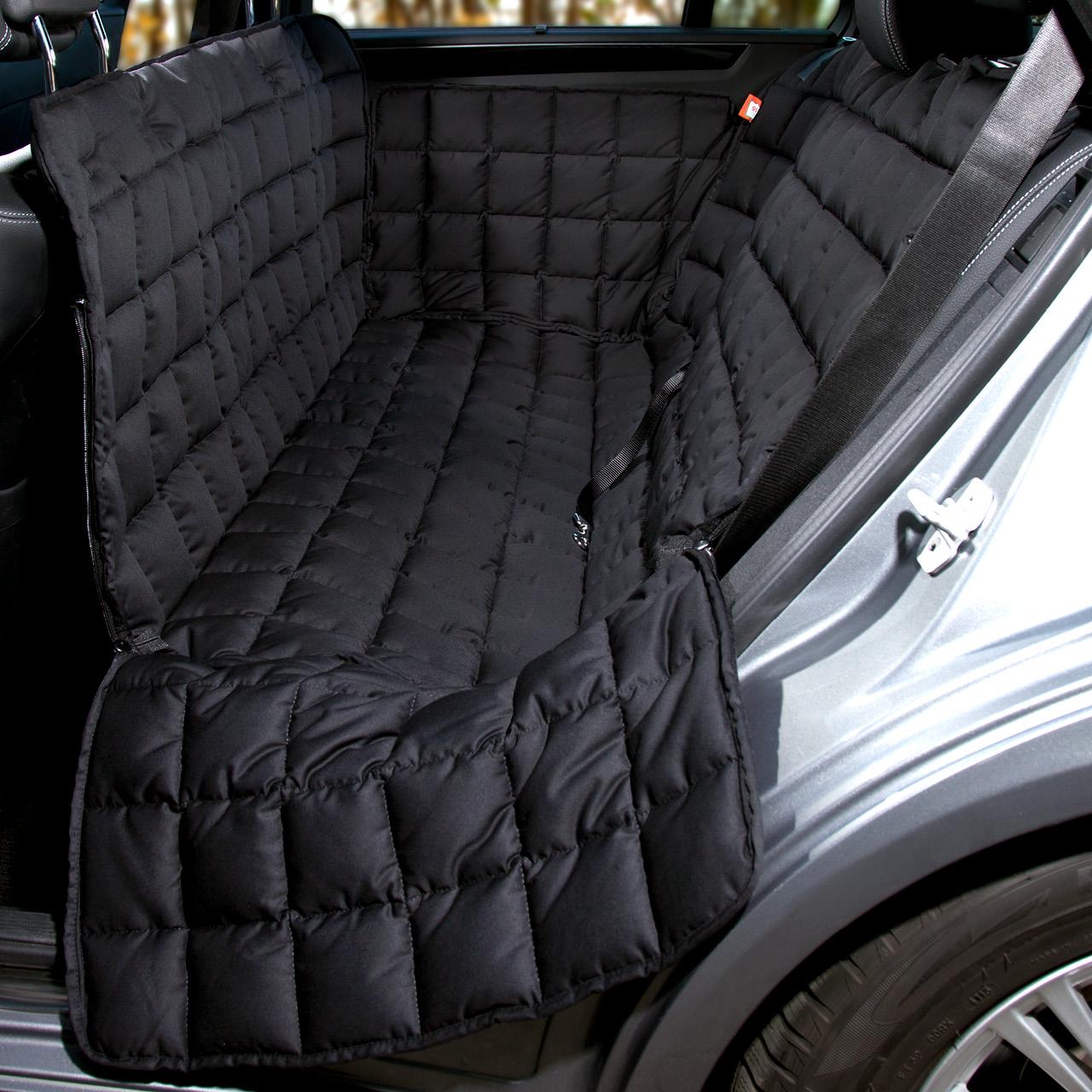 Doctor Bark - Autoschondecke für Hunde - Rückbank 3-Sitz - schwarz