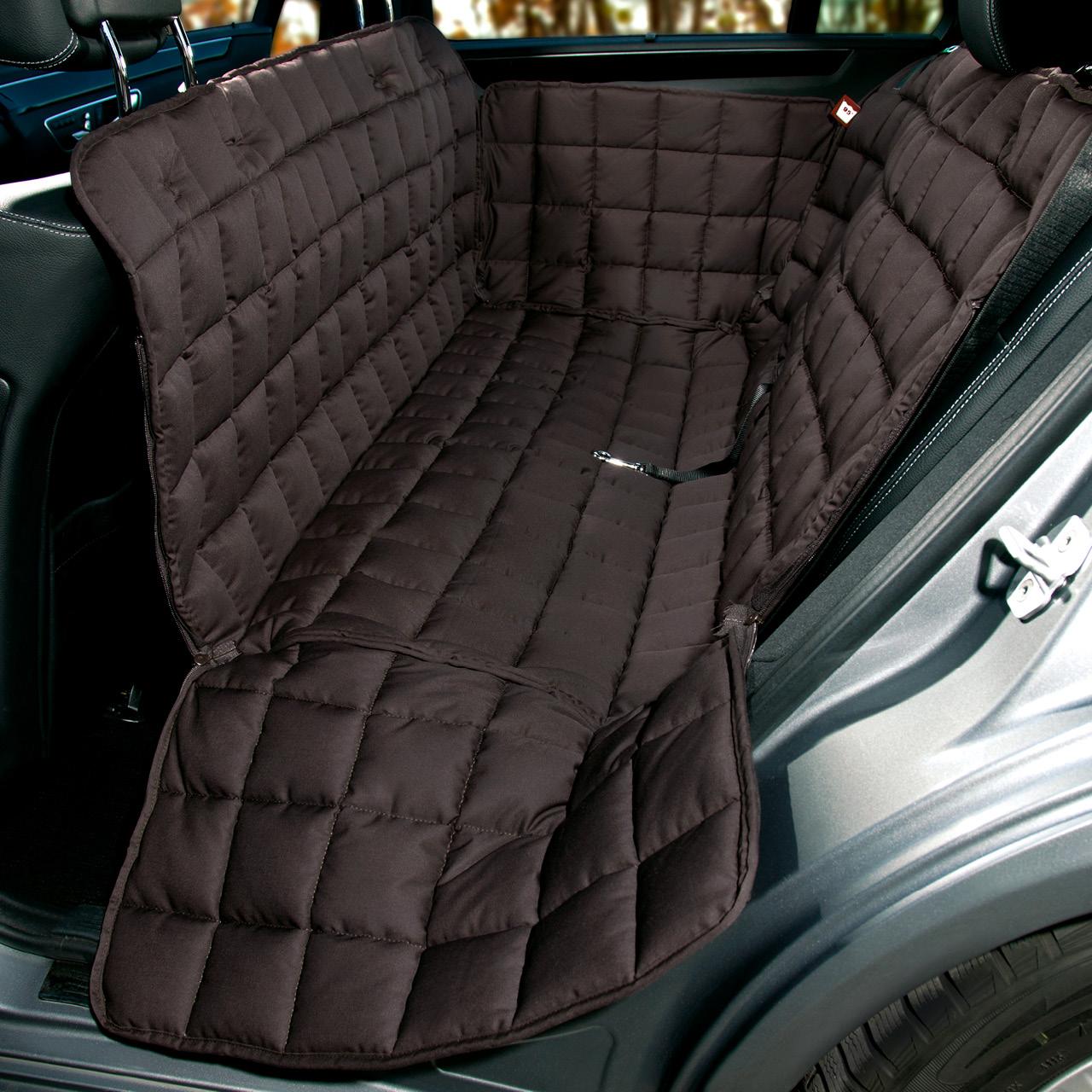 Doctor Bark - Autoschondecke für Hunde - Rückbank 3-Sitz - braun