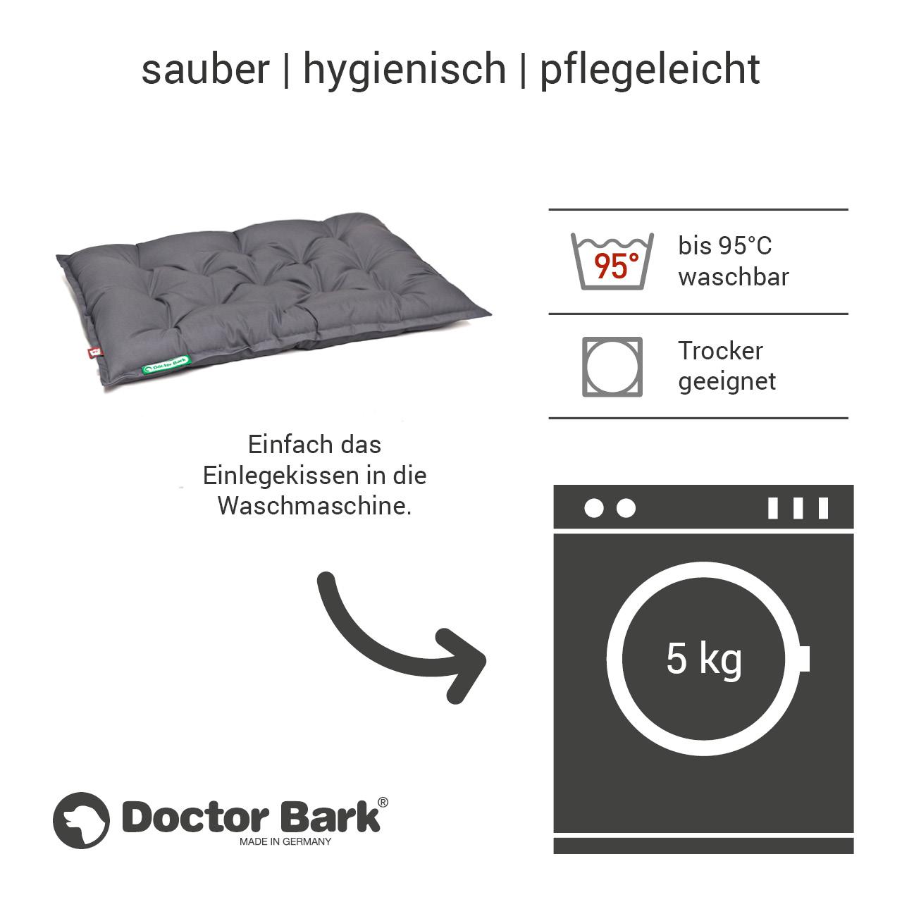 orthopädisches Einlegekissen für Doctor Bark Hundebett Gr. L - grau