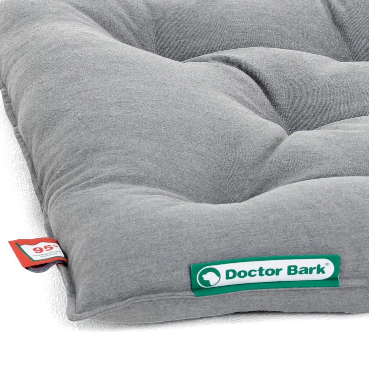 orthopädisches Einlegekissen für Doctor Bark Hundebett - hellgrau