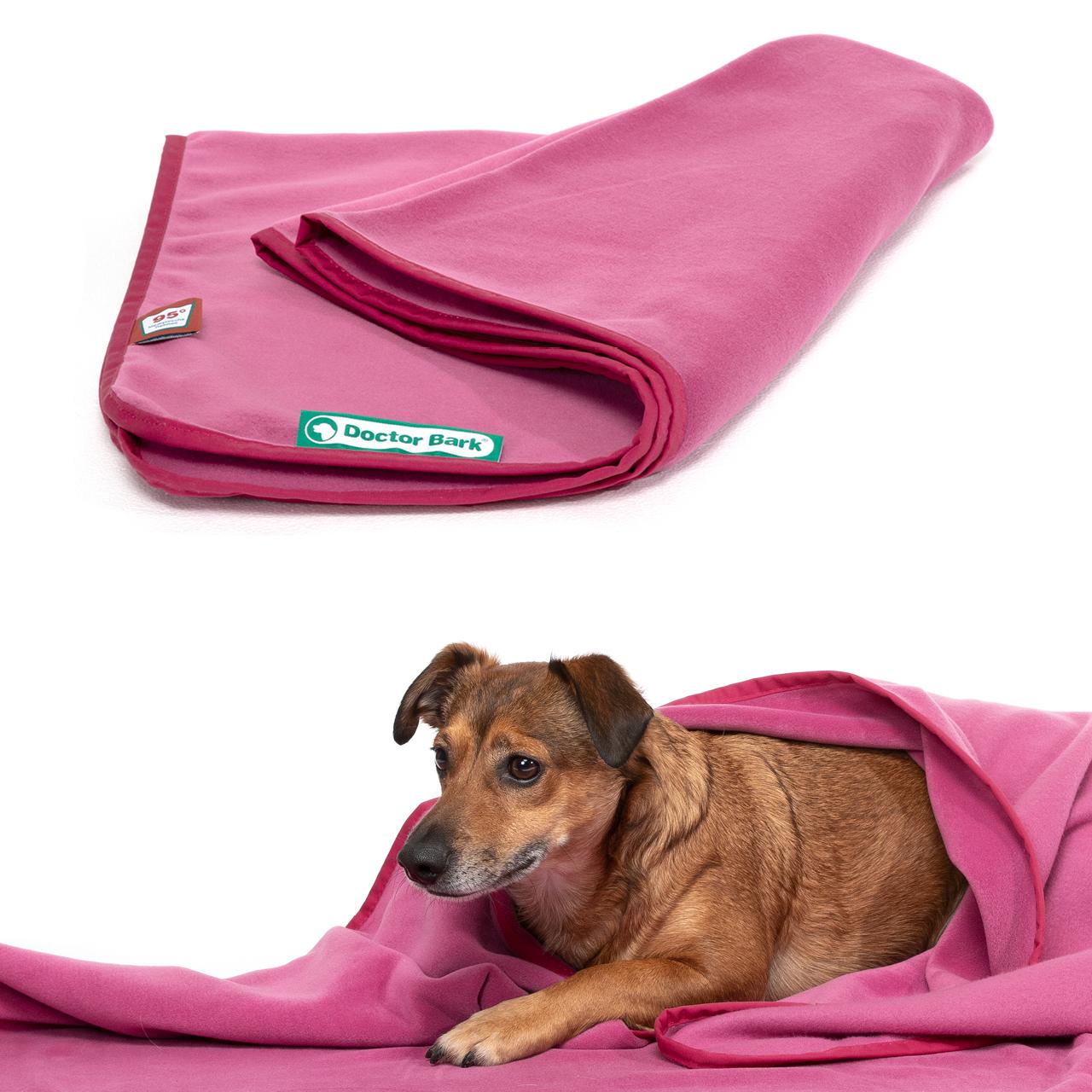 Fleece Kuscheldecke  hot pink XL