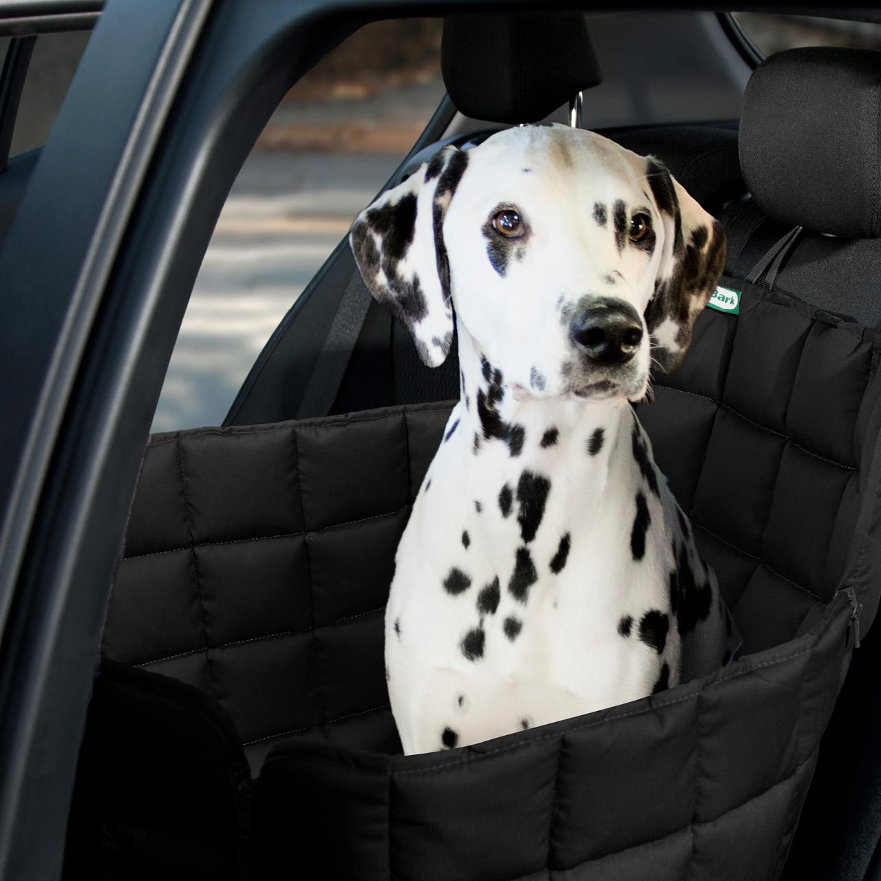 Doctor Bark - Autoschondecke für Hunde - Rückbank 1-Sitz Gr. S - schwarz
