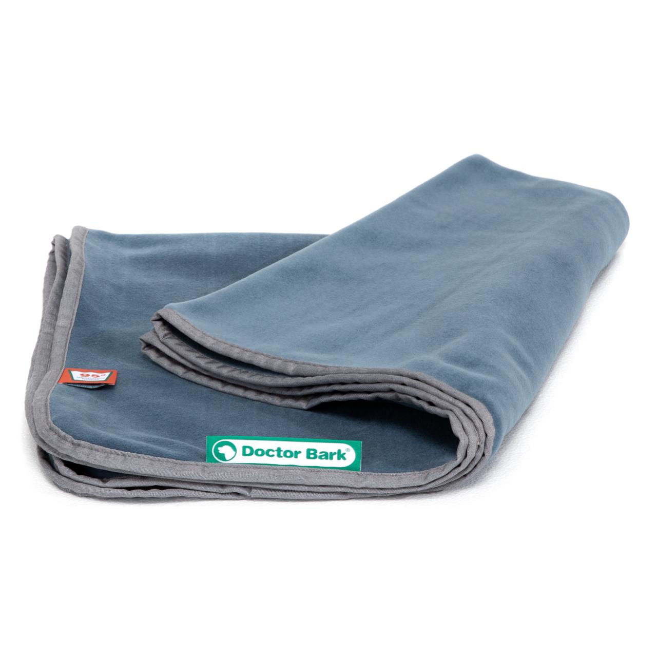 Kuscheldecke Fleece blaugrau XL