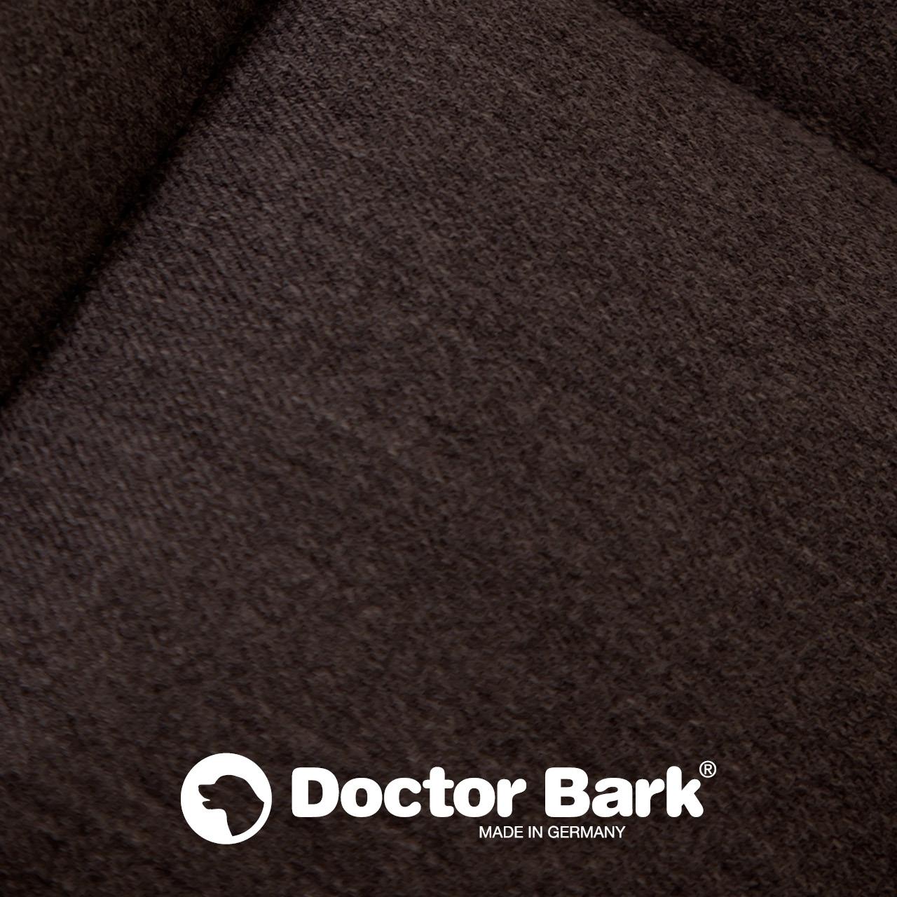 eckiges Doctor Bark Hundebett mit Rand Gr. L - braun
