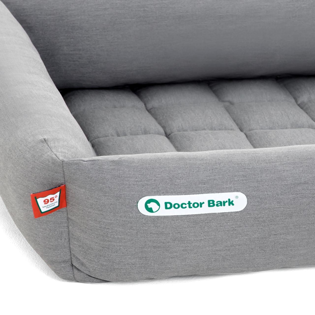 SET Bett + Einlegedecke hellgrau XL