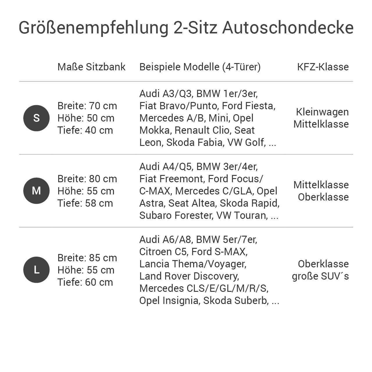 Doctor Bark - Autoschondecke für Hunde - Rückbank 2-Sitz Gr. S - grau
