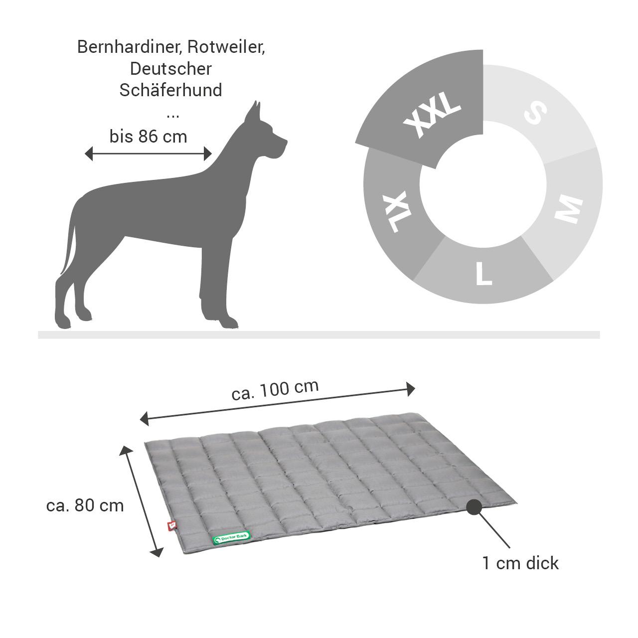 gepolsterte Einlegedecke für Doctor Bark Hundebett Gr. XXL - hellgrau