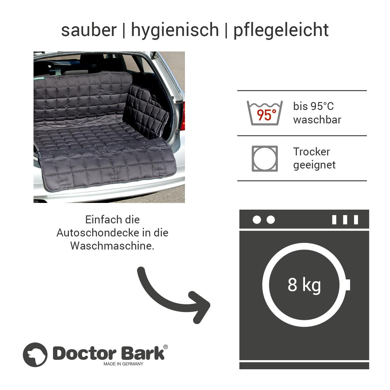 Doctor Bark - Kofferraum Hunde Autoschondecke All-Side Gr. L - grau