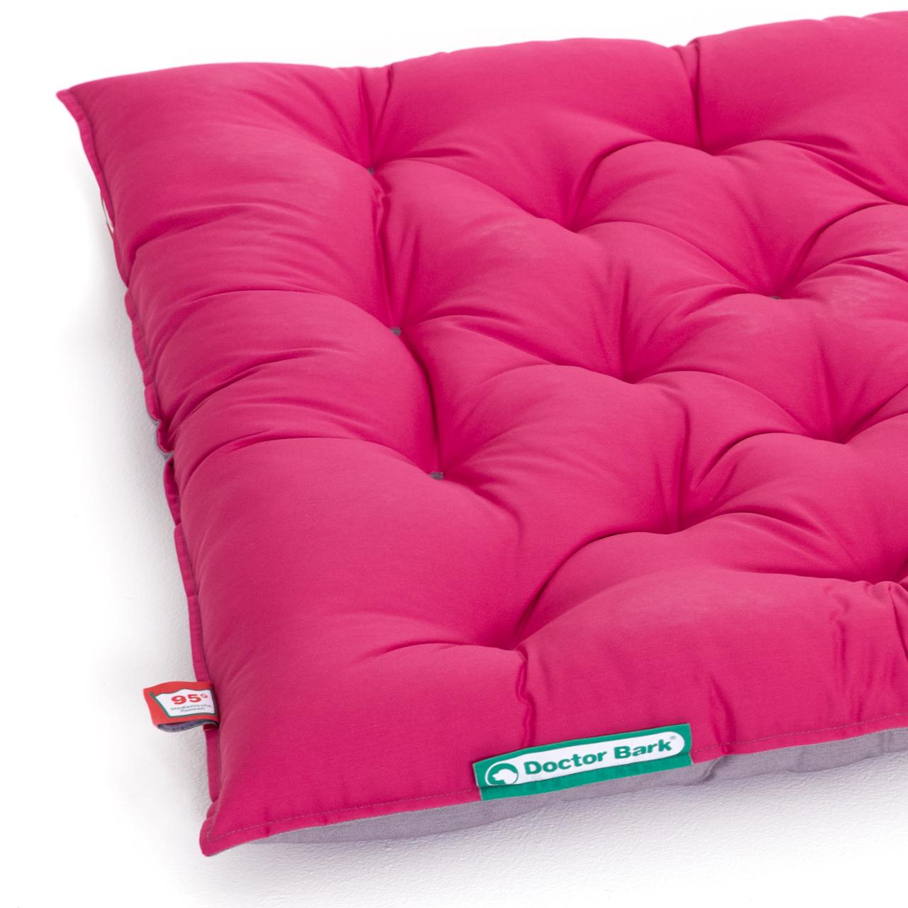 Hundekissen URBAN platingrau - hot pink XL