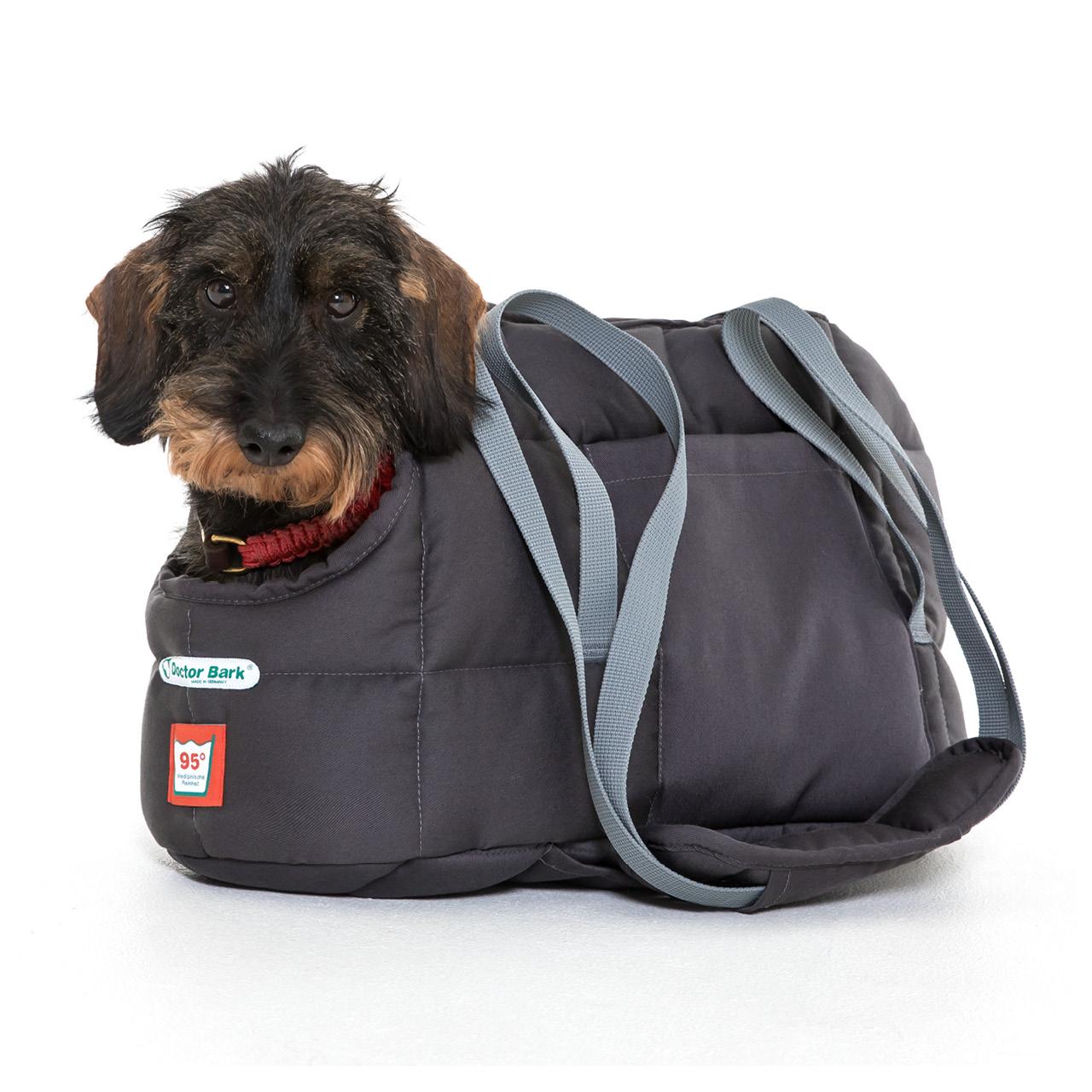 Hundetasche grau XL