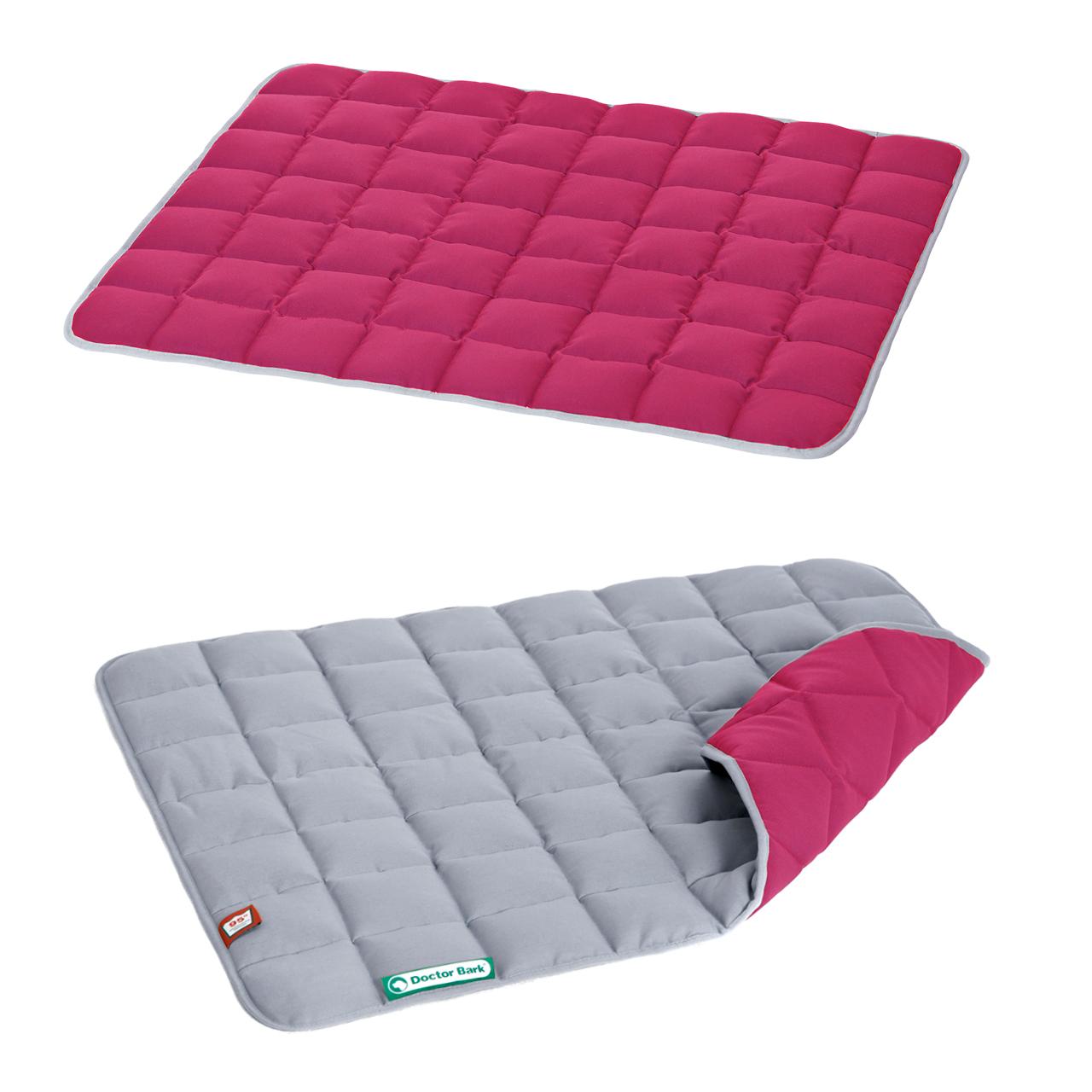 Wendesteppdecke platingrau - hot pink M
