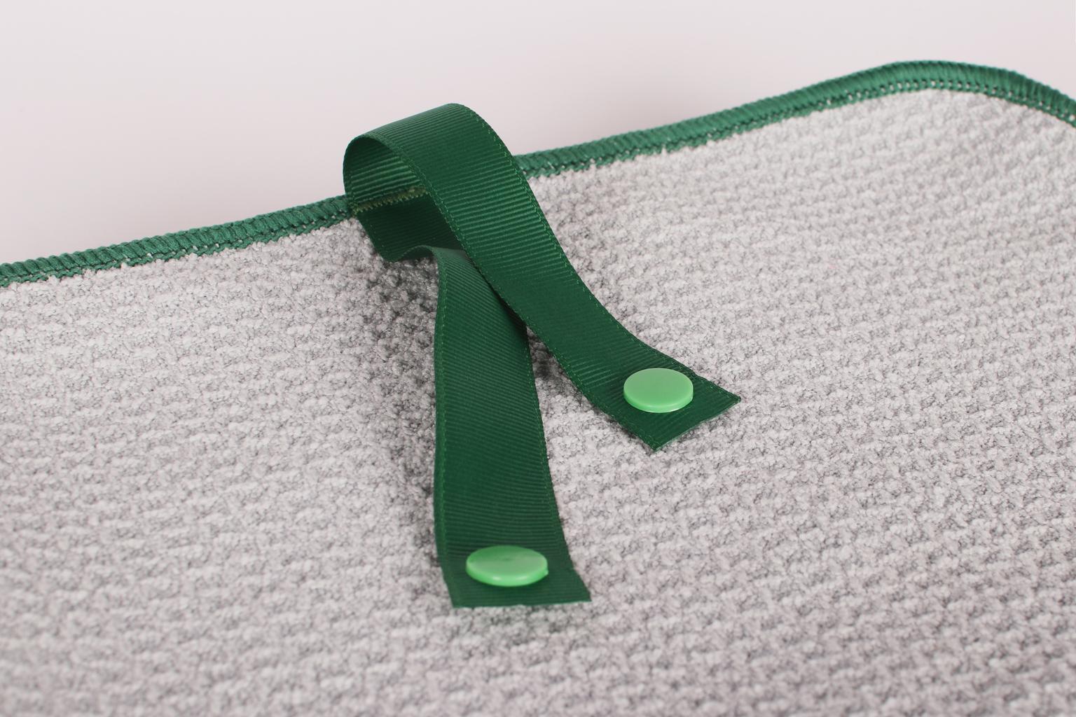 Mikrofaser Pfoten- und Felltuch grau - grün