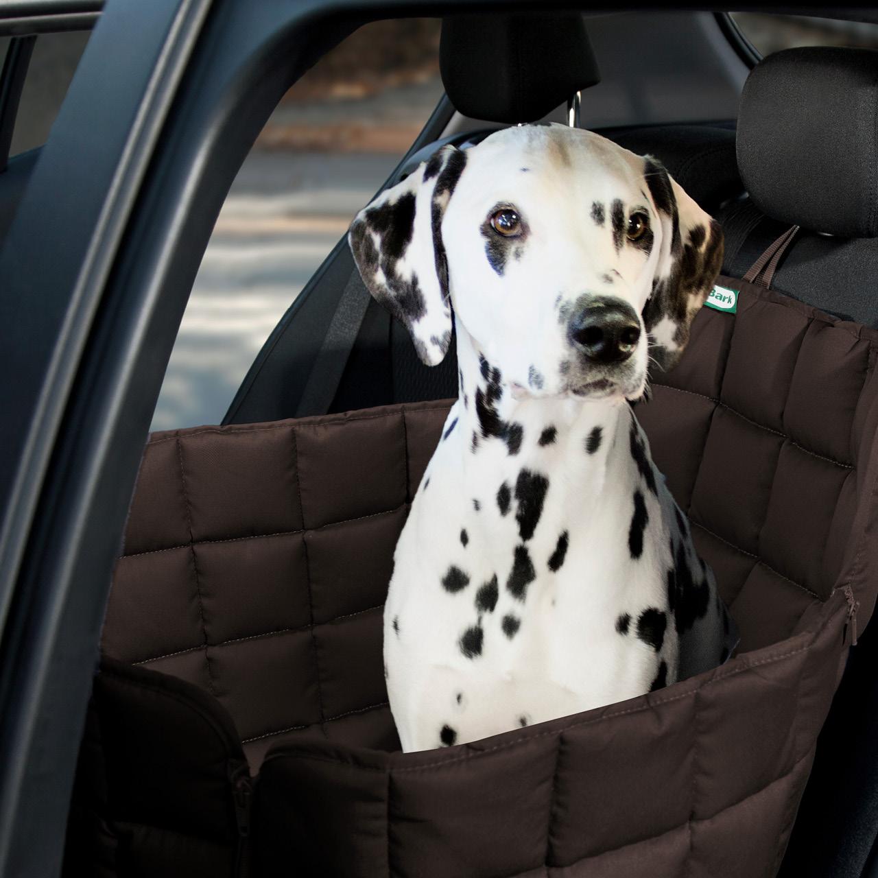 Doctor Bark - Autoschondecke für Hunde - Rückbank 1-Sitz Gr. S - braun