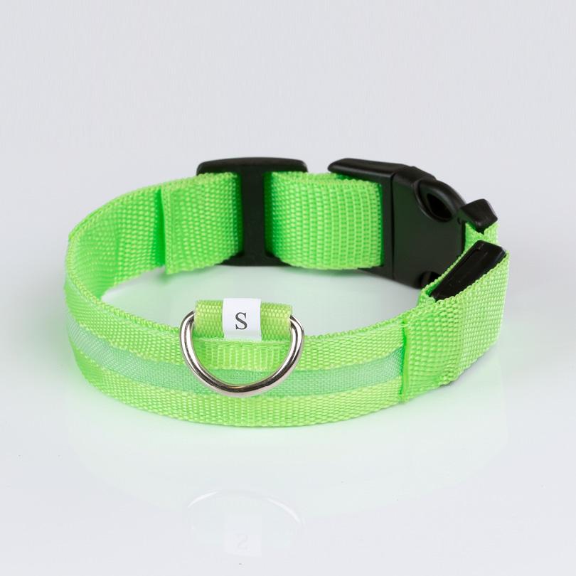 Leuchthalsband S grün