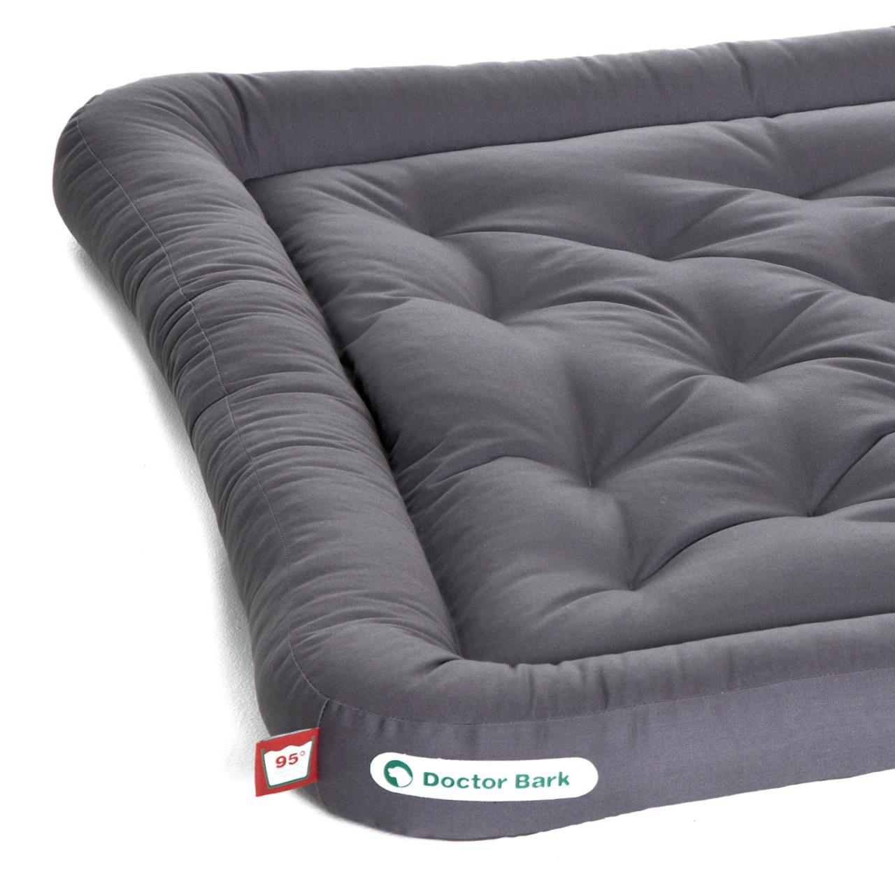 Lounge-Hundekissen / Hundebett orthopädisch Doctor Bark waschbar grau