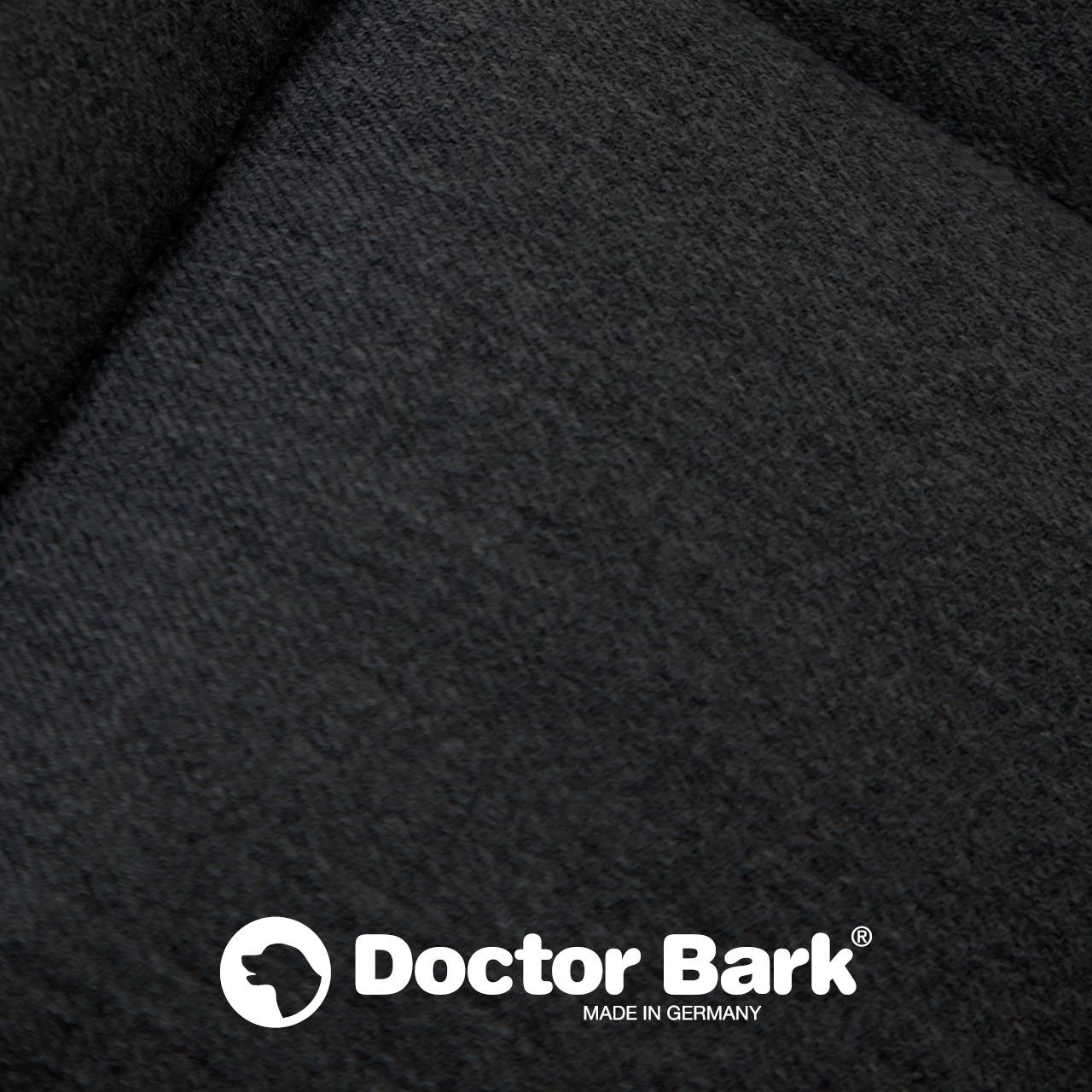 gepolsterte Einlegedecke für Doctor Bark Hundebett - schwarz