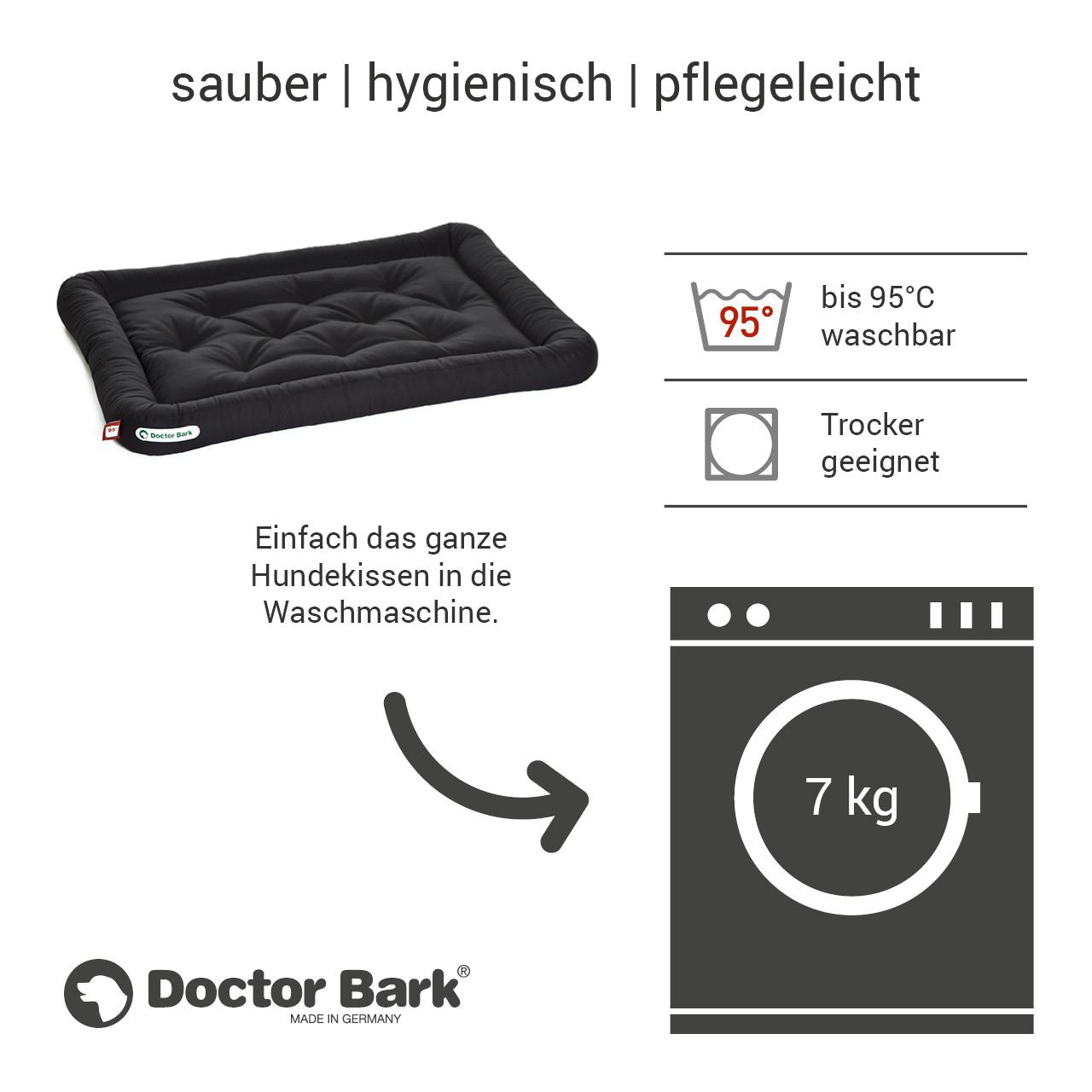 Lounge-Hundekissen / Hundebett orthopädisch Doctor Bark waschbar schwarz - Gr. L