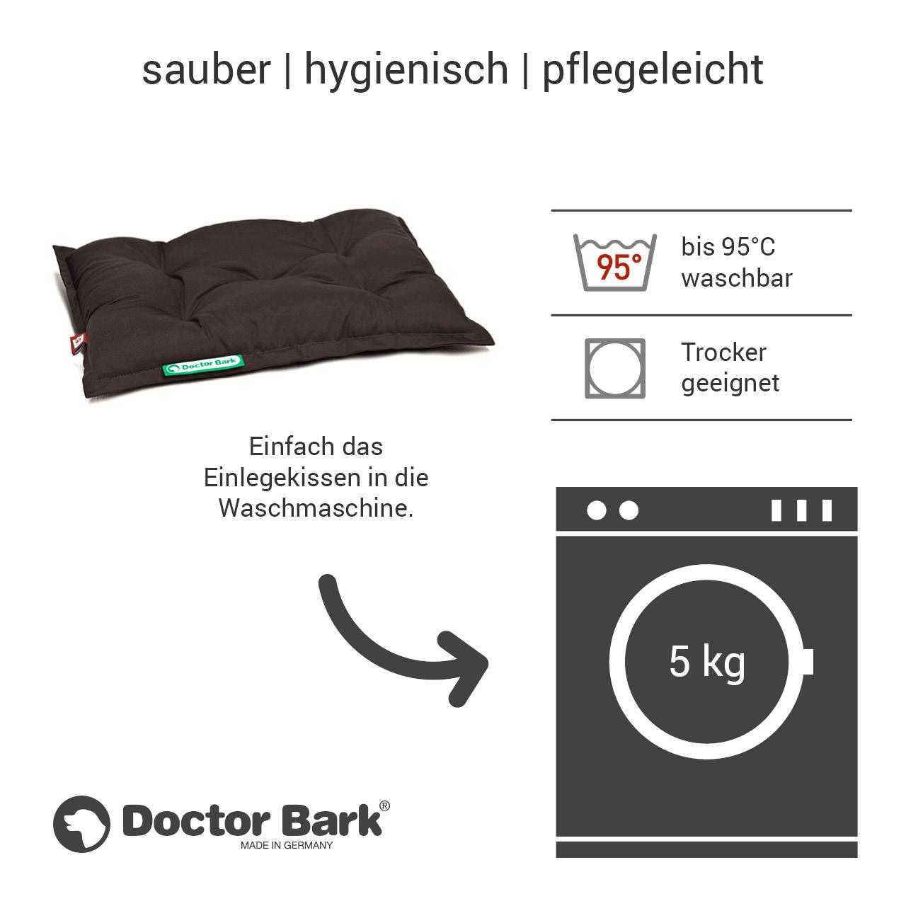 orthopädisches Einlegekissen für Doctor Bark Hundebett Gr. S - braun