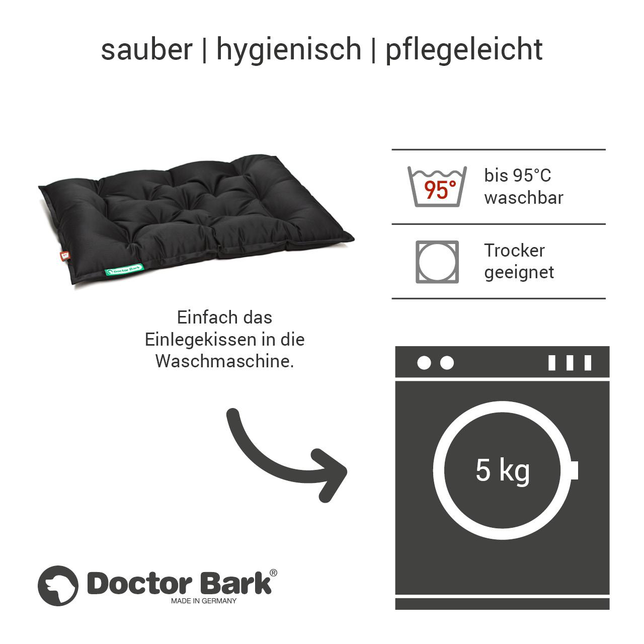 orthopädisches Einlegekissen für Doctor Bark Hundebett Gr. L - schwarz
