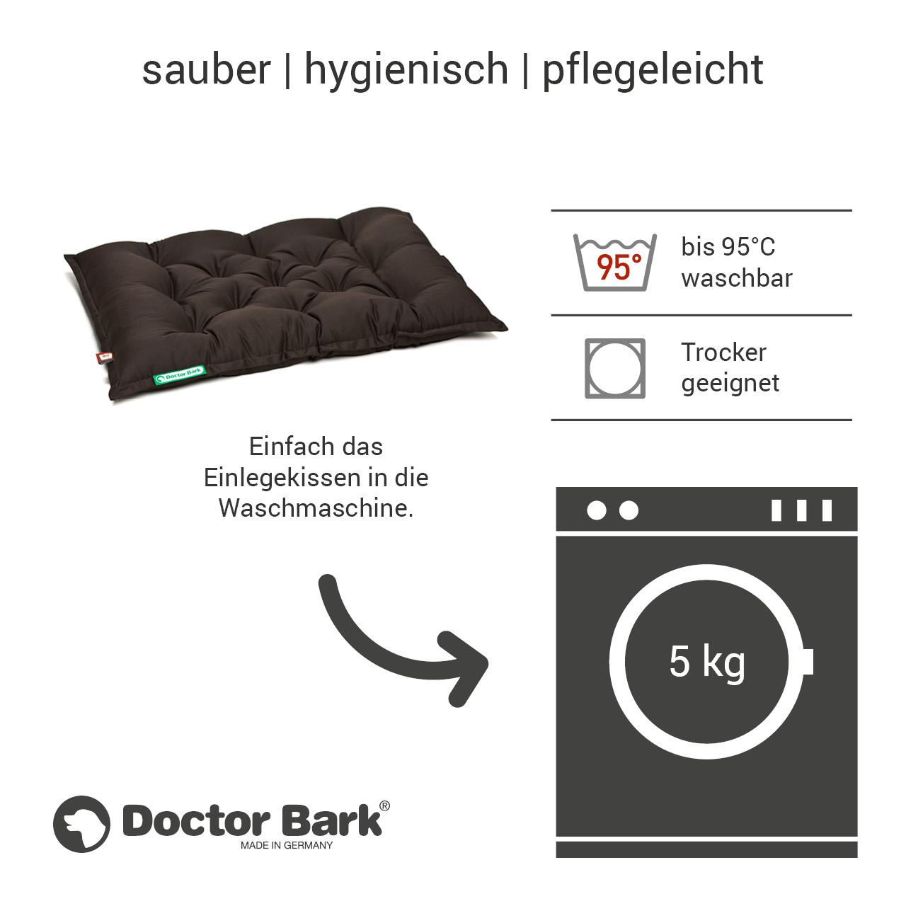 orthopädisches Einlegekissen für Doctor Bark Hundebett Gr. L - braun