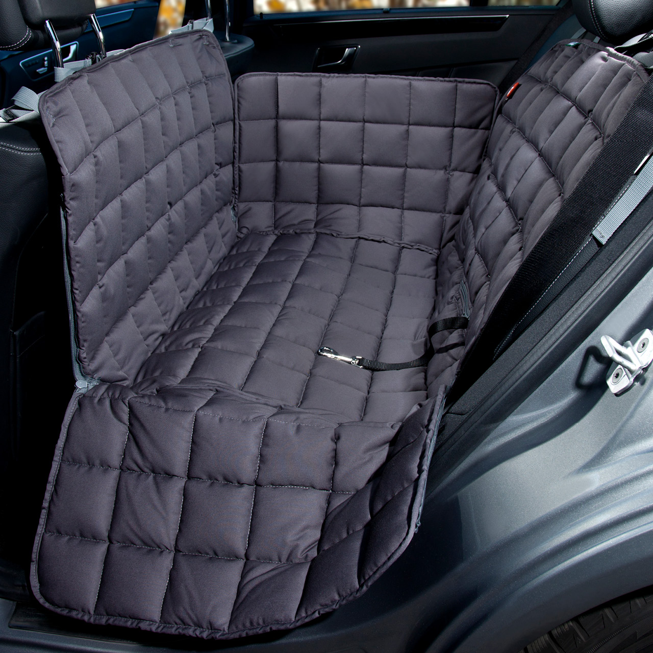Doctor Bark - Autoschondecke für Hunde - Rückbank 2-Sitz - grau