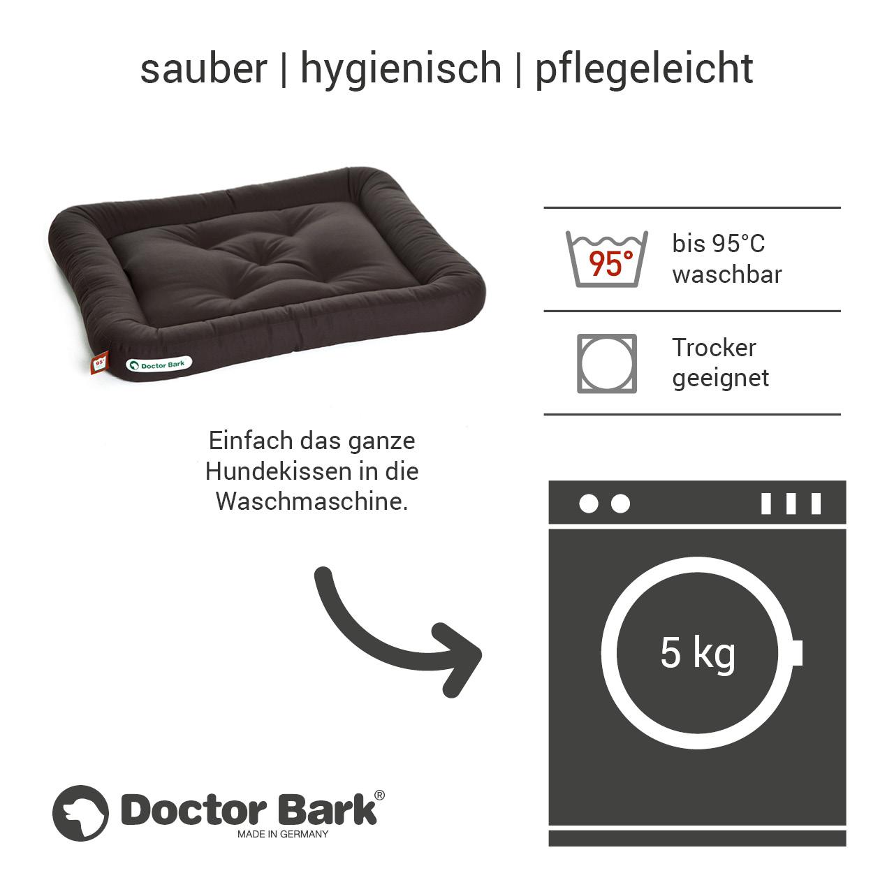 Lounge-Hundekissen / Hundebett orthopädisch Doctor Bark waschbar braun - Gr. M