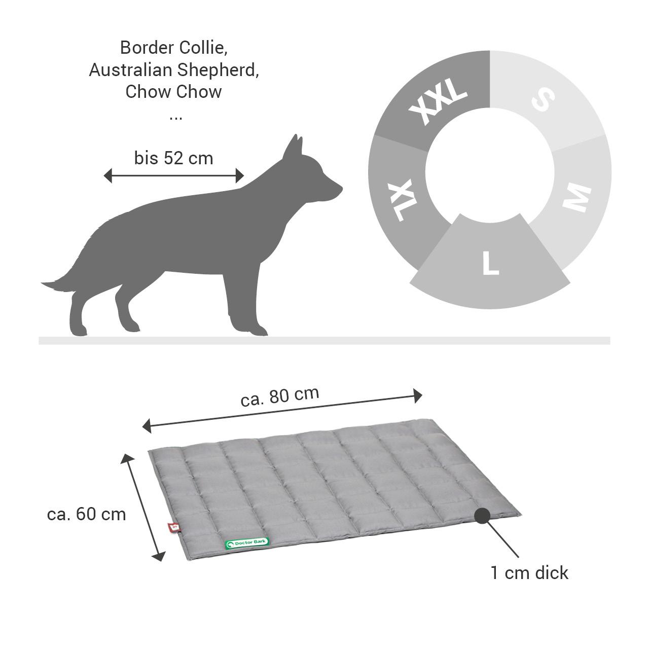 gepolsterte Einlegedecke für Doctor Bark Hundebett Gr. L - hellgrau