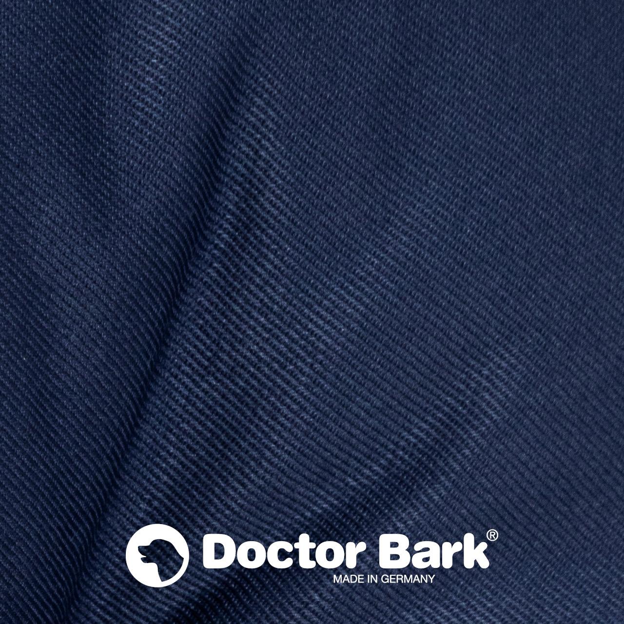 rundes Hundebett mit orthopädischem Wendekissen Doctor Bark - königsblau blau
