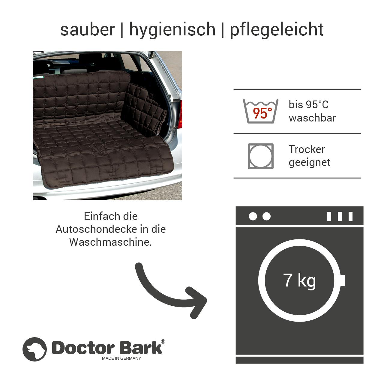 Doctor Bark - Kofferraum Hunde Autoschondecke All-Side Gr. M/L - braun