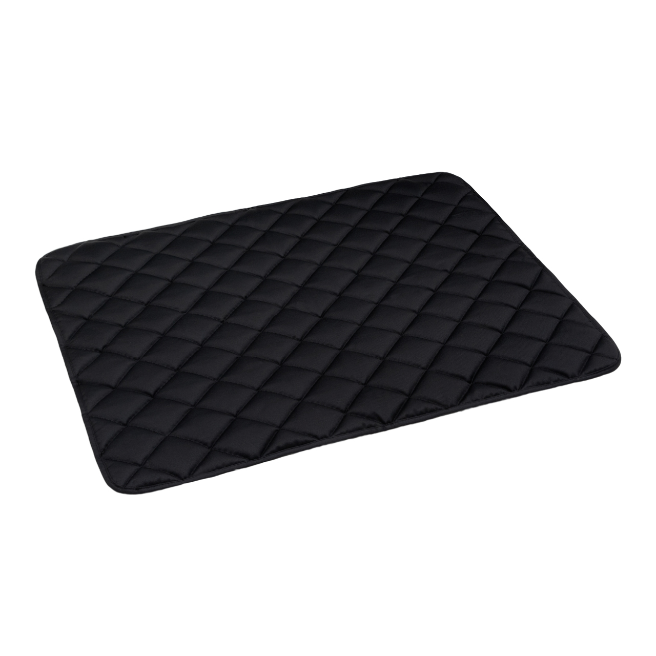 Fleece-Steppdecke grau - waterproof schwarz M
