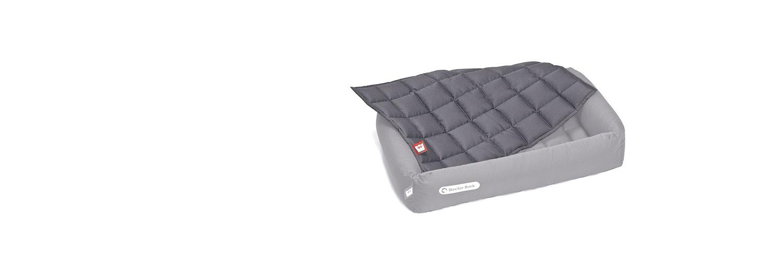 Doctor Bark - gepolsterte Einlegedecke für eckiges Hundebett - waschbar bei 95°C