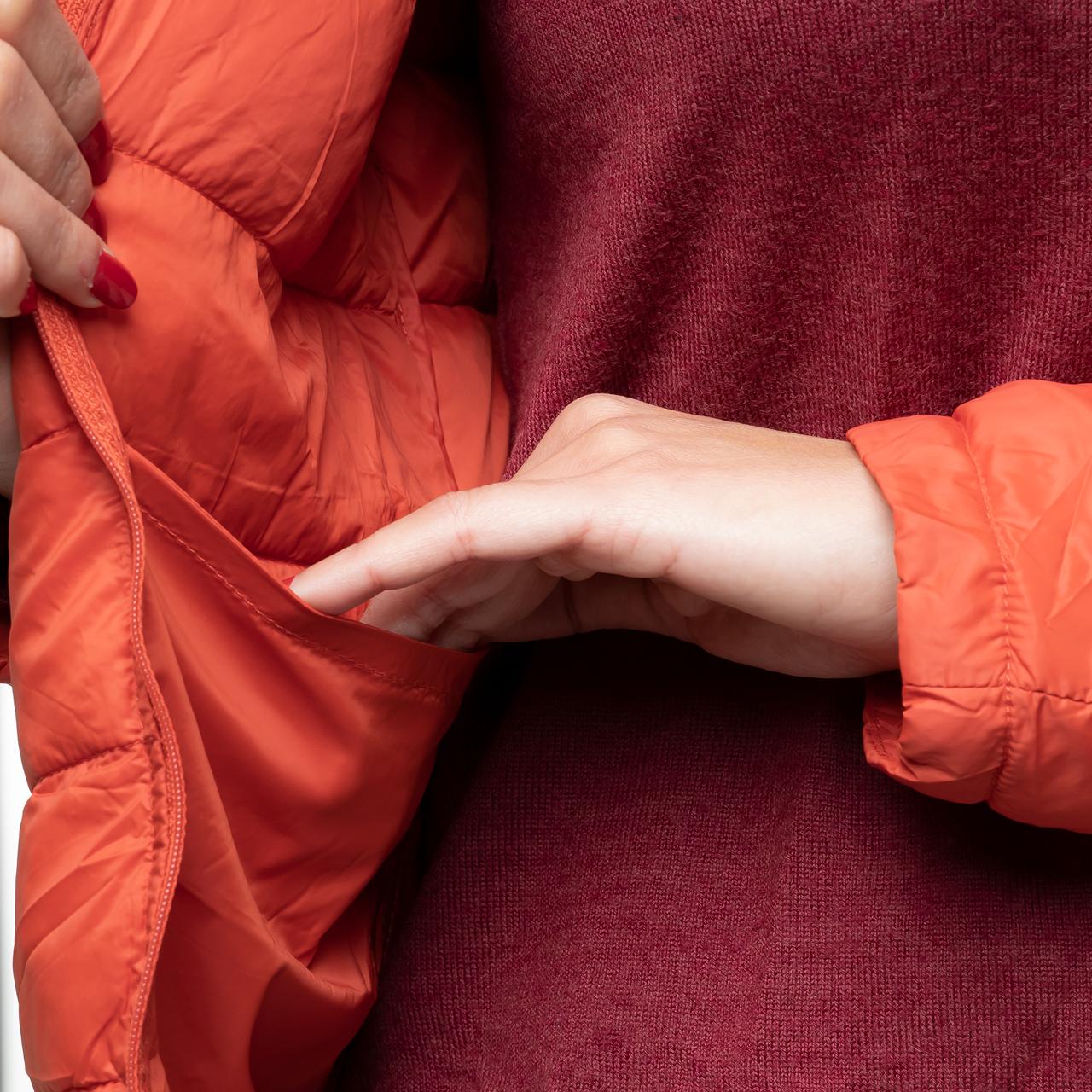 Damen Steppjacke in orange L/XL
