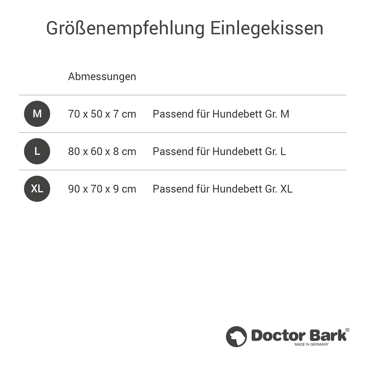 orthopädisches Einlegekissen für Doctor Bark Hundebett Gr. XL - tomate rot