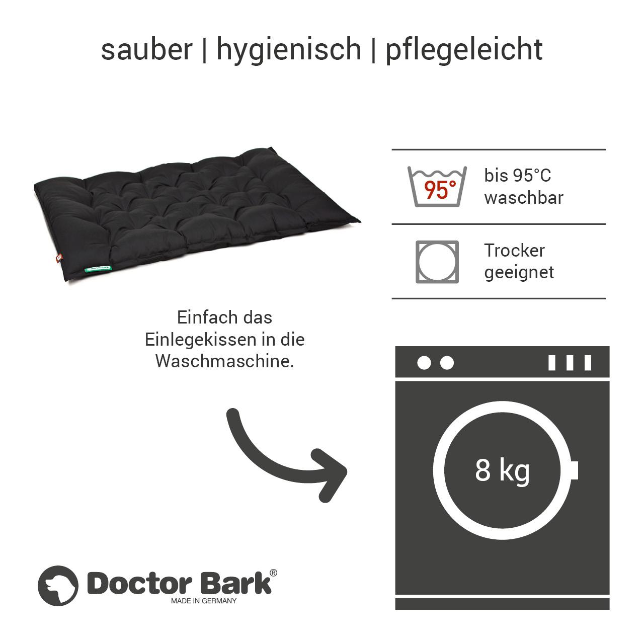 orthopädisches Einlegekissen für Doctor Bark Hundebett Gr. XXL - schwarz