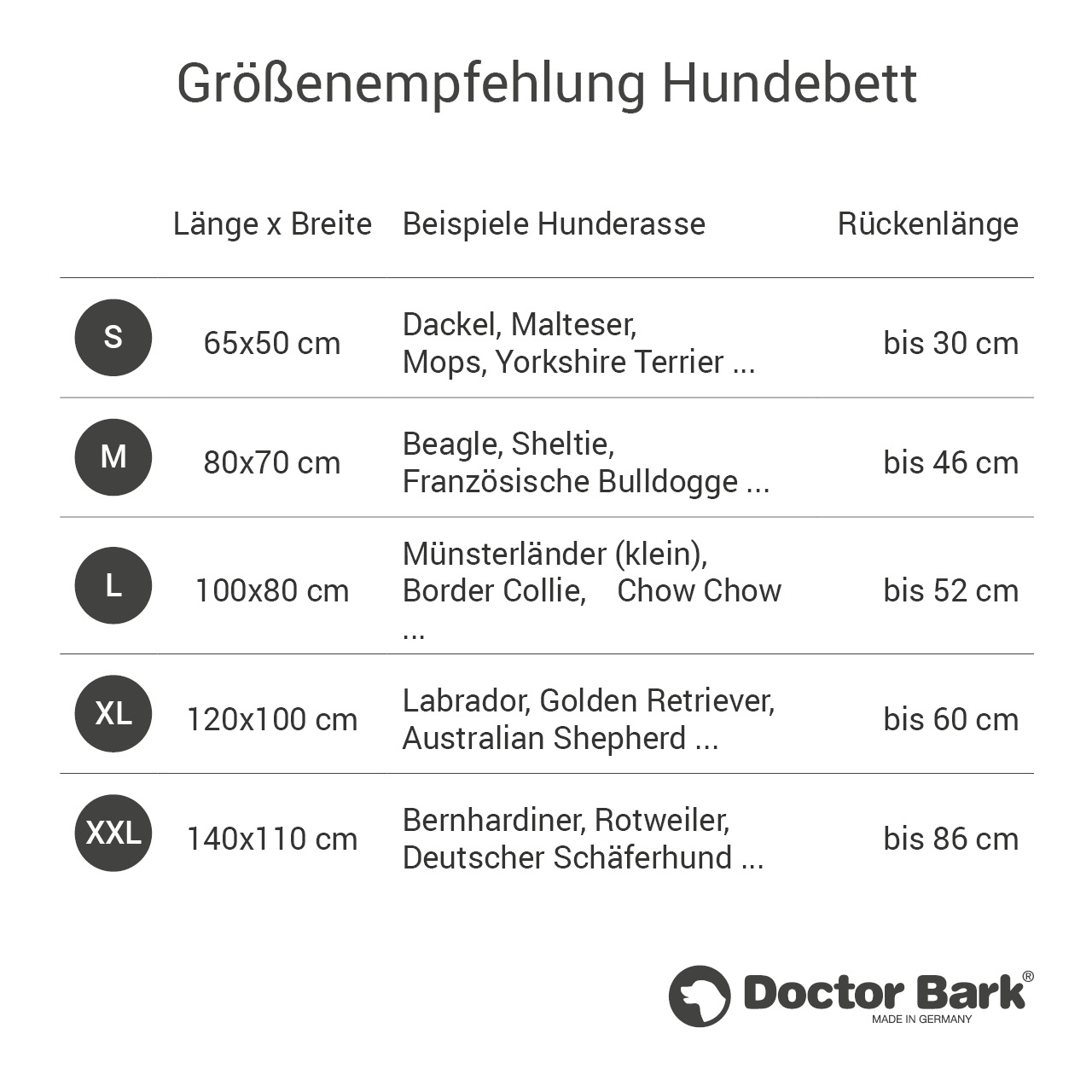 eckiges Doctor Bark Hundebett mit Rand Gr. M - hellgrau