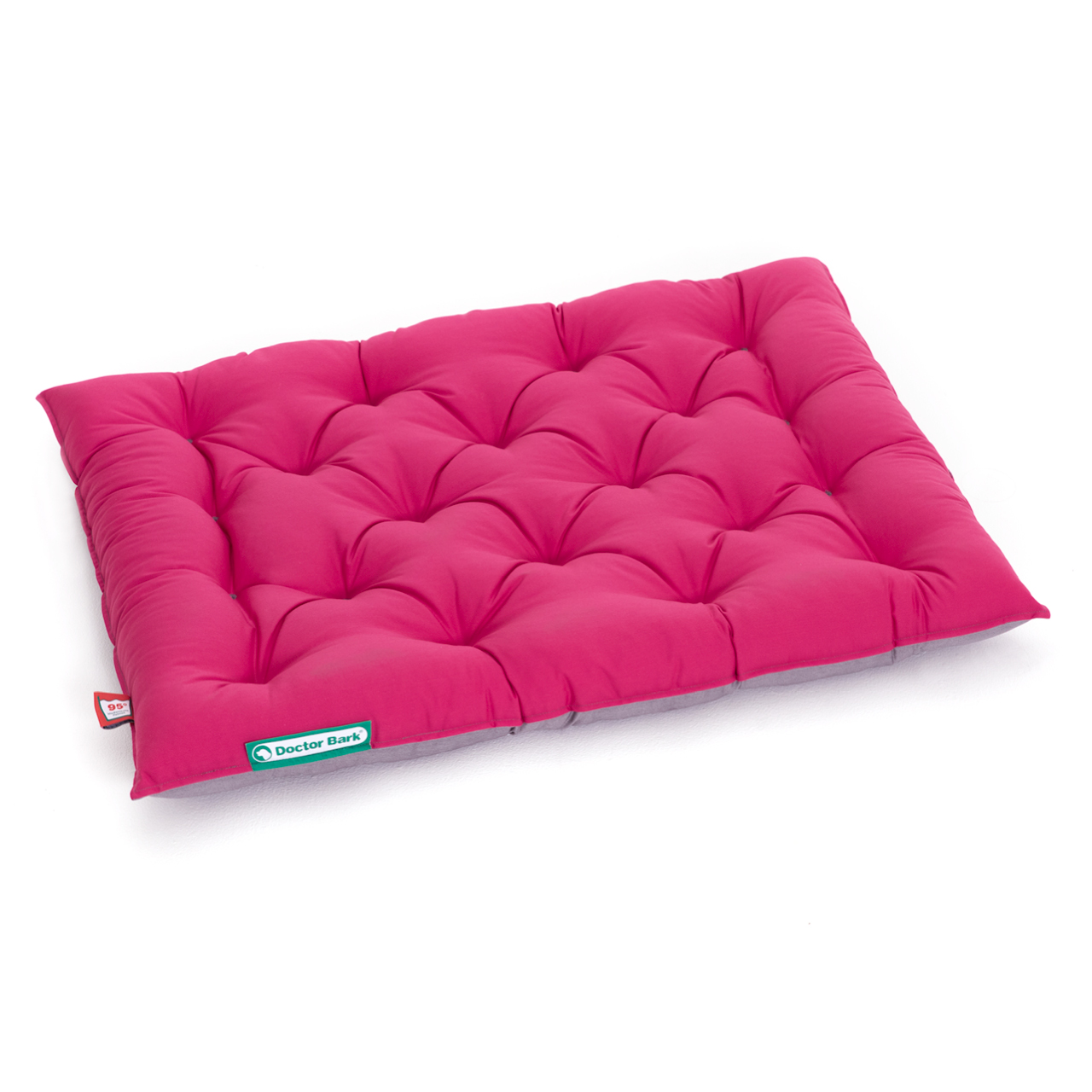 Hundekissen URBAN platingrau - hot pink L