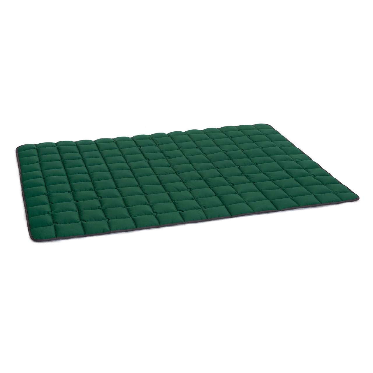 Wende-Steppdecke grau - grün XXL