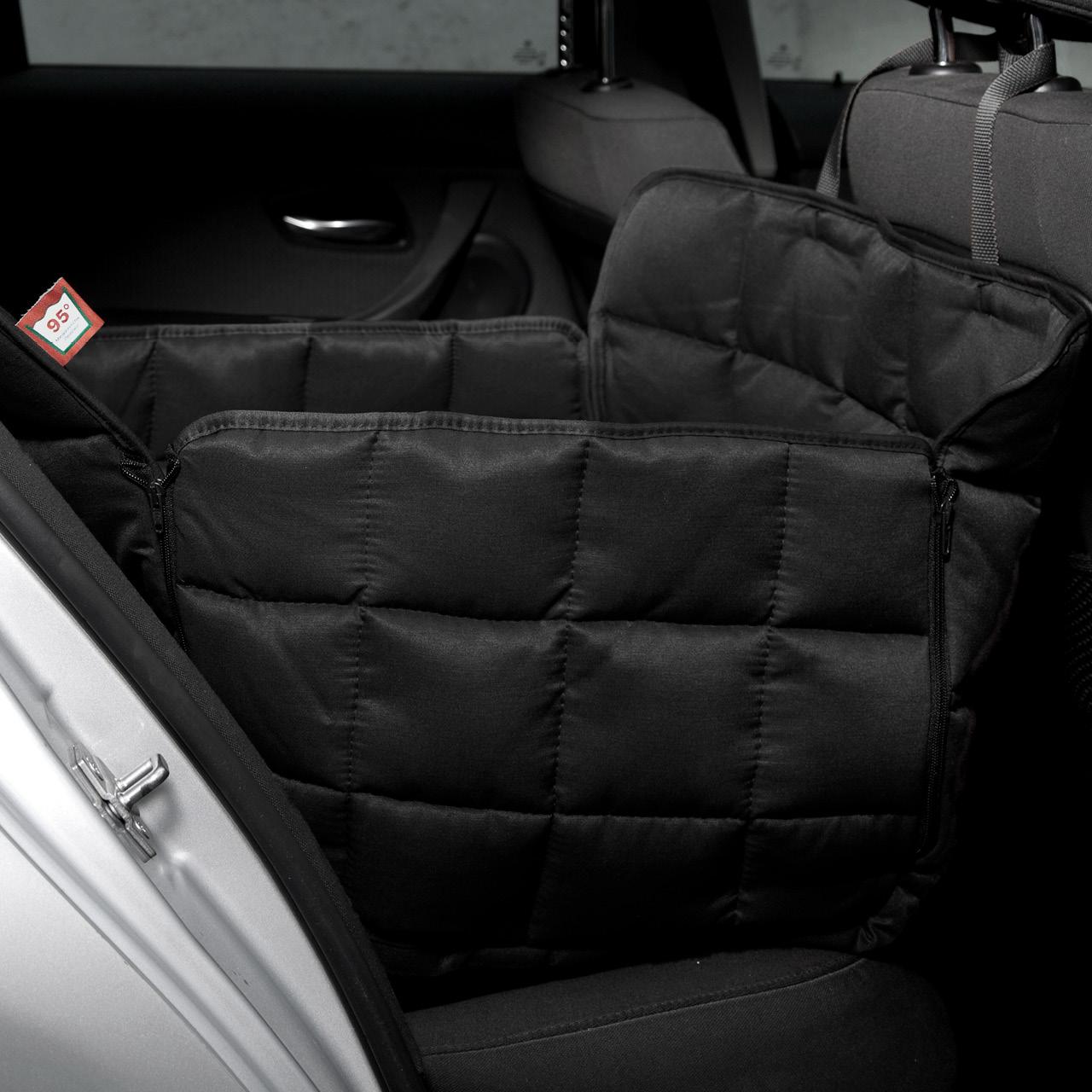 Doctor Bark - Autoschondecke für Hunde - Rückbank 1-Sitz Gr. L - schwarz