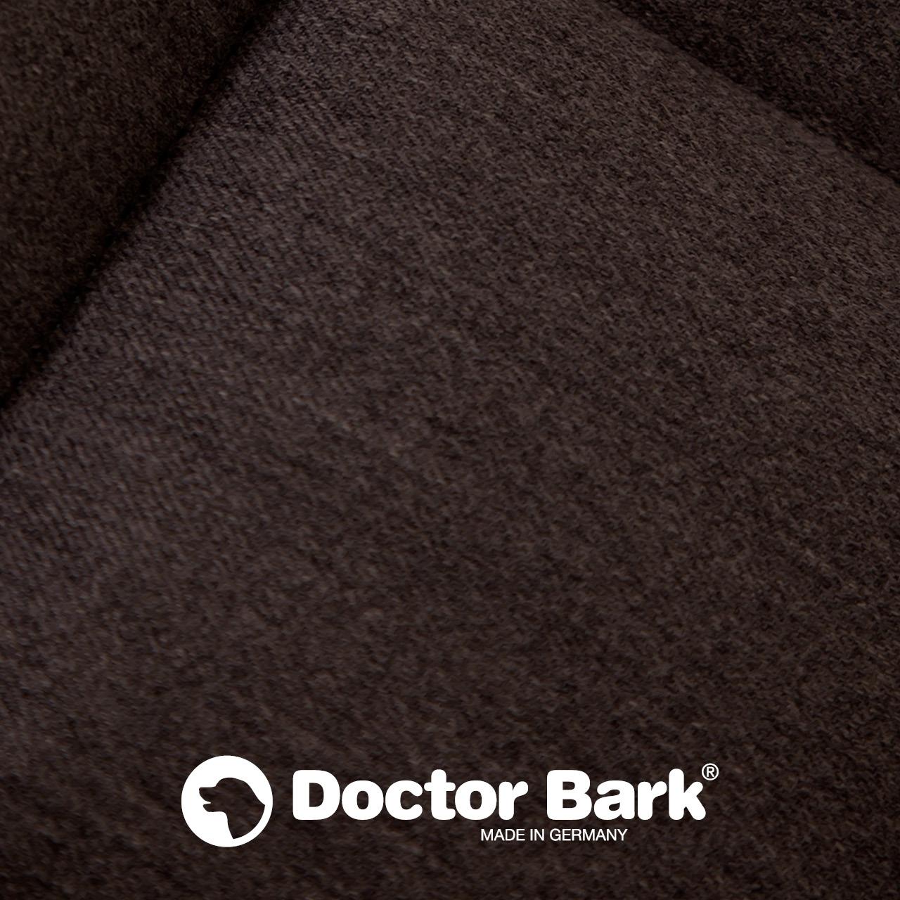 eckiges Doctor Bark Hundebett mit Rand - braun