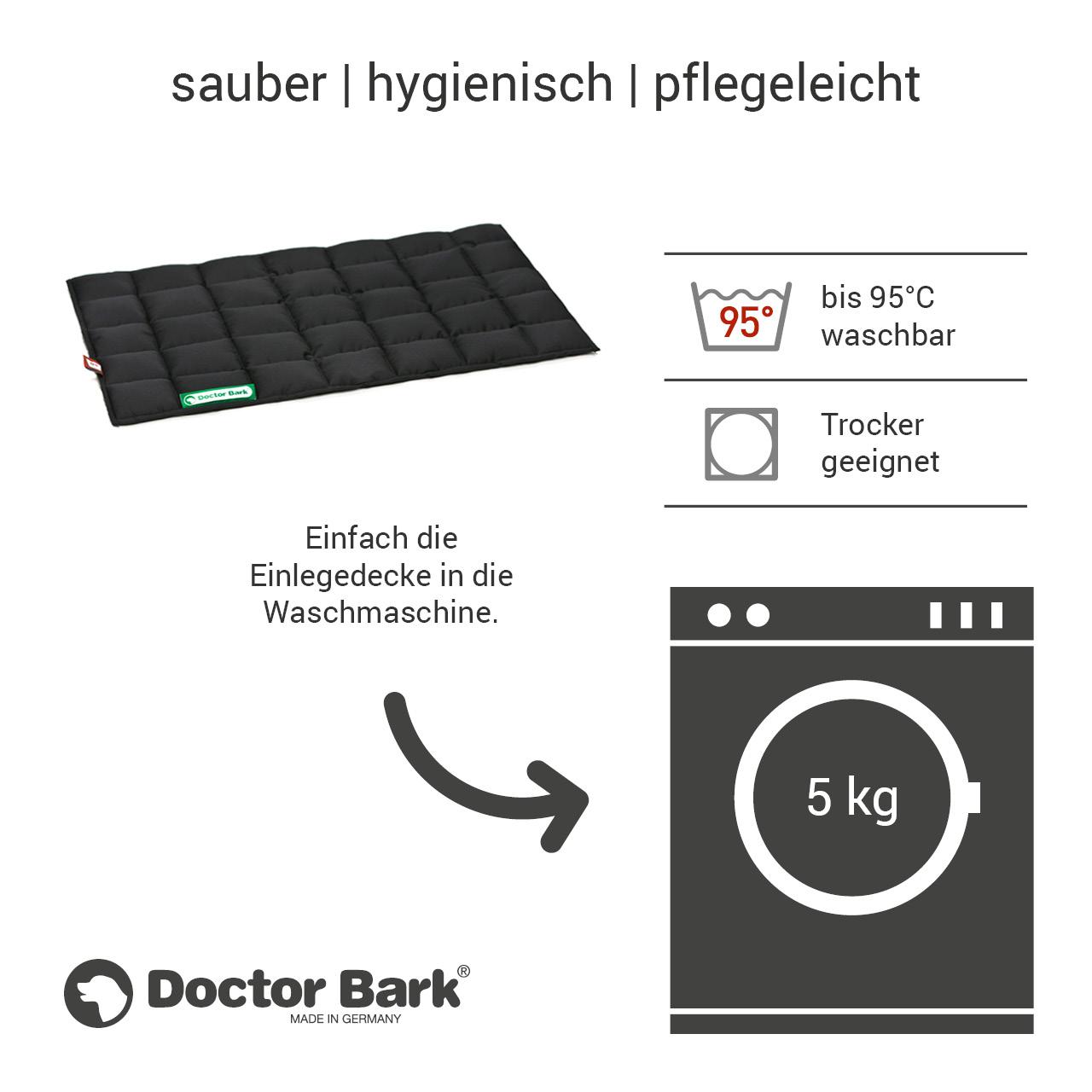 gepolsterte Einlegedecke für Doctor Bark Hundebett Gr. M - schwarz