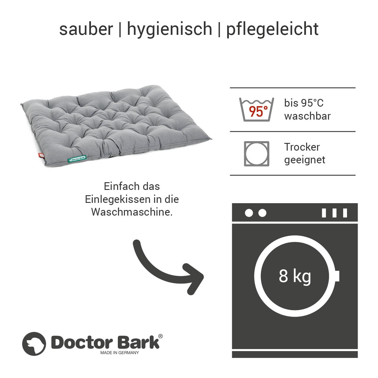 orthopädisches Einlegekissen für Doctor Bark Hundebett Gr. XXL - hellgrau