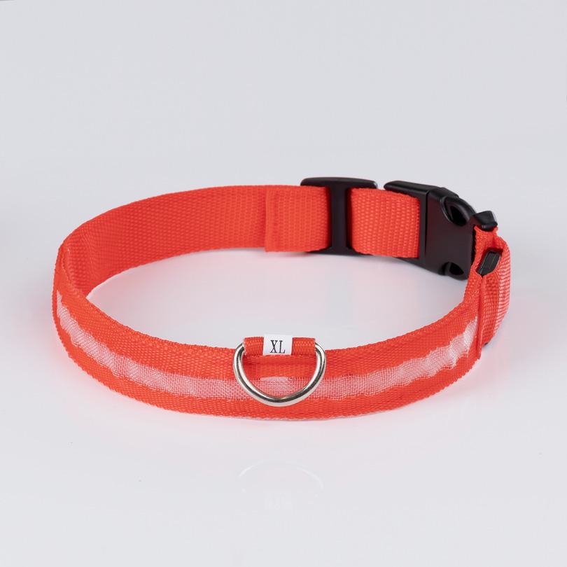 Leuchthalsband XL rot