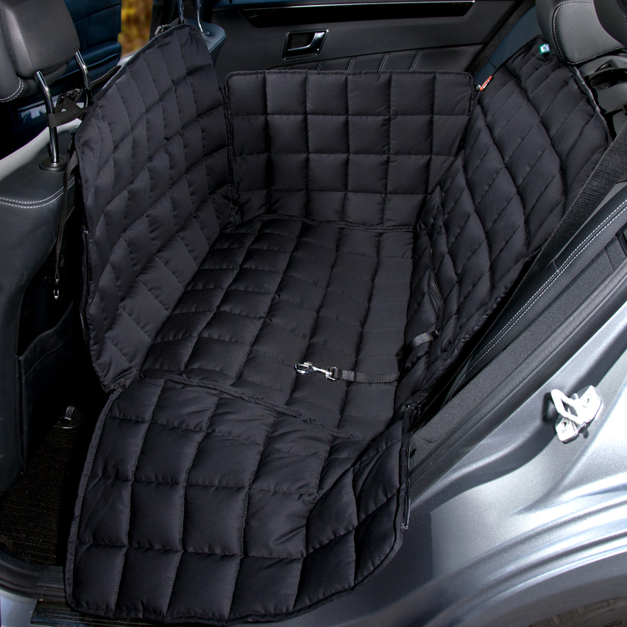 Doctor Bark - Autoschondecke für Hunde - Rückbank 2-Sitz - schwarz