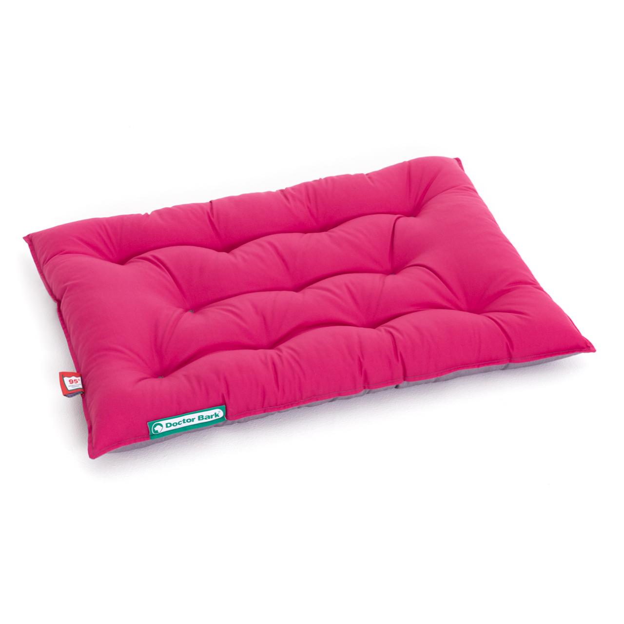 Hundekissen URBAN platingrau - hot pink M
