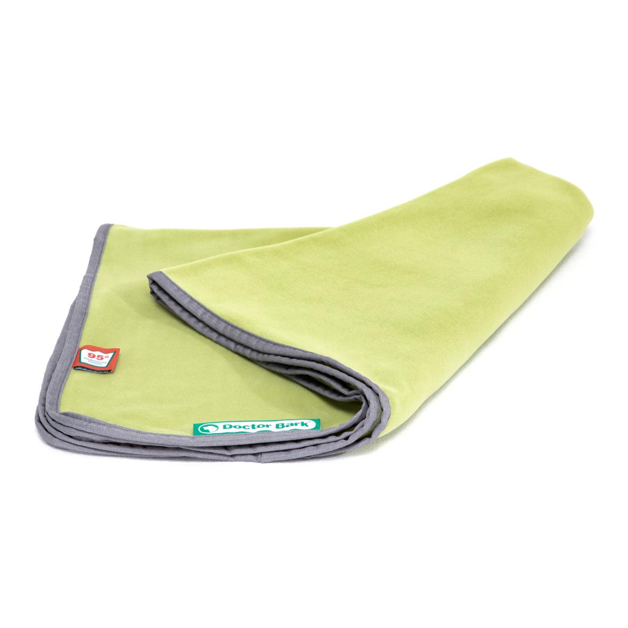 Kuscheldecke Fleece gras grün L