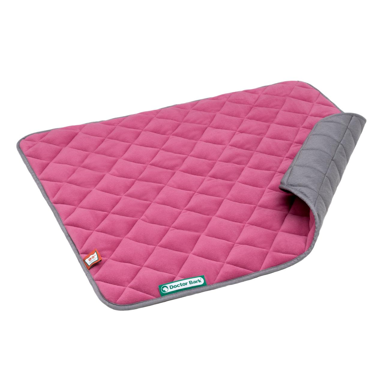 Fleece Steppdecke hot pink - hellgrau M